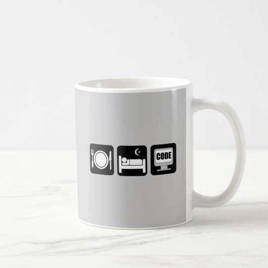 eat sleep code coffee mug