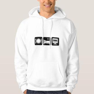 eat sleep code hoodie