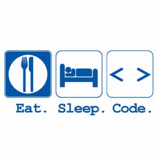 eat sleep code (html) photo sculpture ornament