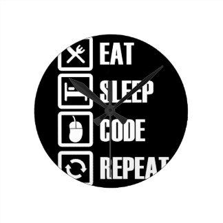 -eat-sleep-code-repeat clock