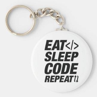 Eat Sleep Code Repeat Keychain