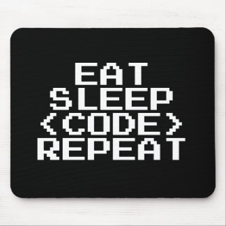 EAT SLEEP CODE REPEAT mousepad gift for programmer