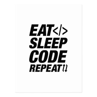 Eat Sleep Code Repeat Postcard
