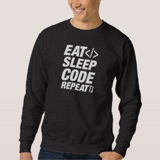 Eat Sleep Code Repeat Sweatshirt