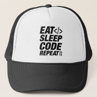 Eat Sleep Code Repeat Trucker Hat