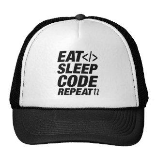 Eat Sleep Code Repeat Trucker Hat