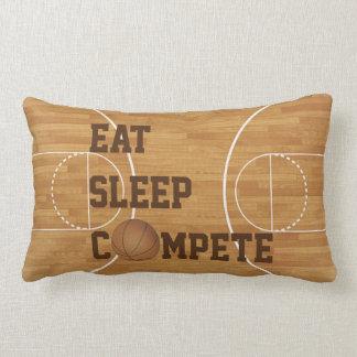 Eat Sleep Compete Basketball Court Pillow