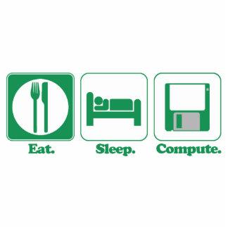 eat sleep computer (green) cut out