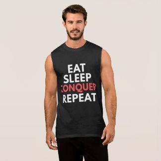 Eat Sleep Conquer Repeat Sleeveless Shirt