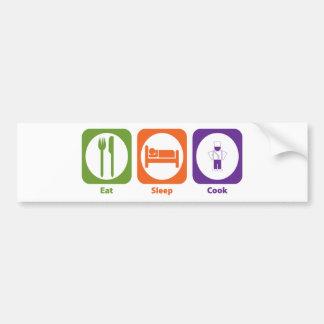 Eat Sleep Cook Bumper Sticker