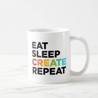 Eat Sleep Create Repeat Coffee Mug