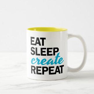 Eat Sleep Create Repeat Mug