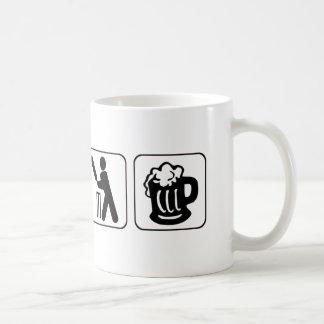 Eat, sleep cricket, beer. Funny design for cricket Coffee Mug