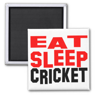 Eat Sleep Cricket Magnet
