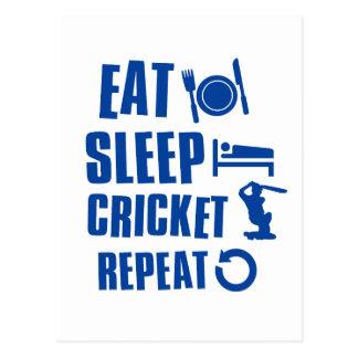 Eat sleep Cricket Postcard
