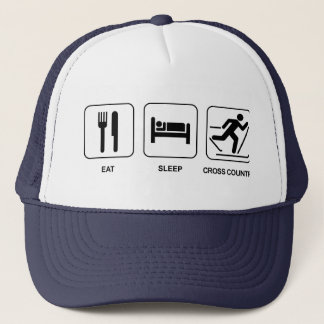 Eat Sleep Cross Country Trucker Hat