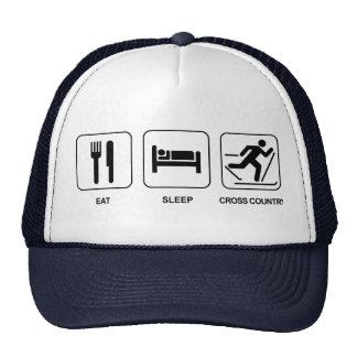 Eat Sleep Cross Country Trucker Hat