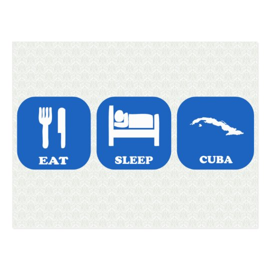 Eat Sleep Cuba Postcard
