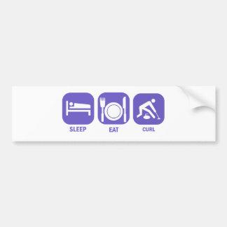 Eat Sleep Curl Bumper Sticker