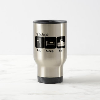 Eat, Sleep, Curl Travel Mug