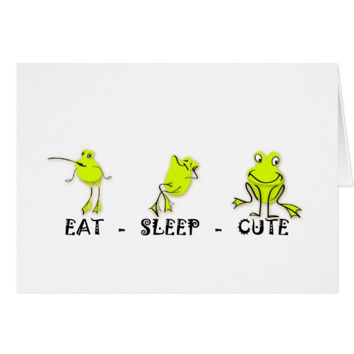Eat Sleep Cute Frog Cards