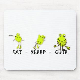 Eat Sleep Cute Frog Mousepads