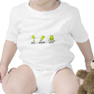 Eat Sleep Cute Frog Rompers