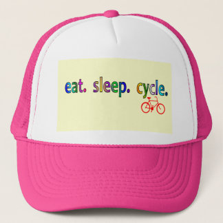 eat sleep cycle Bicycle Rider Gifts Trucker Hat