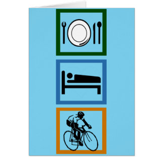 Eat Sleep Cycle Cyclist Card