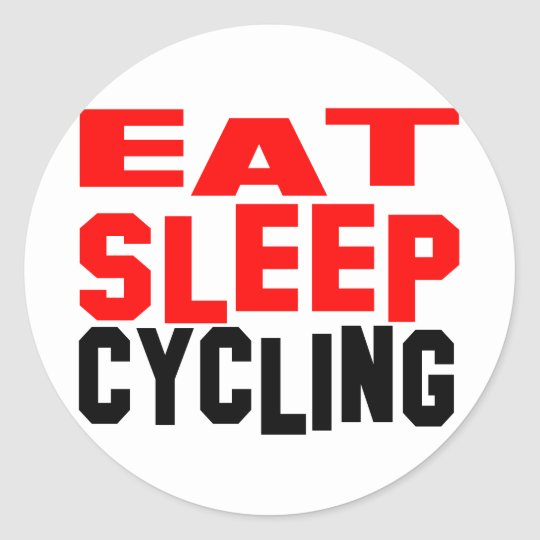 Eat Sleep Cycling Classic Round Sticker