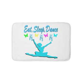 EAT, SLEEP, DANCE BALLERINA DESIGN BATH MAT