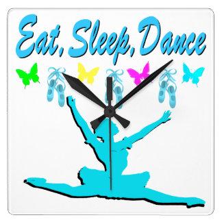 EAT, SLEEP, DANCE BALLERINA DESIGN CLOCKS
