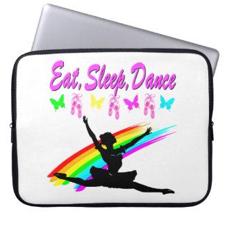 EAT, SLEEP, DANCE BALLERINA DESIGN COMPUTER SLEEVE