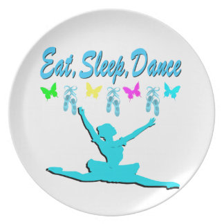 EAT, SLEEP, DANCE BALLERINA DESIGN PARTY PLATES