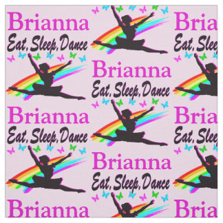 EAT, SLEEP, DANCE PERSONALIZED BALLERINA FABRIC