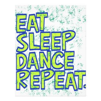 eat sleep dance repeat letterhead