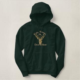 Eat Sleep Deer Hunt Embroidered Hooded Sweatshirt