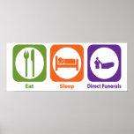 Eat Sleep Direct Funerals Poster
