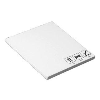 Eat Sleep Dive Notepad