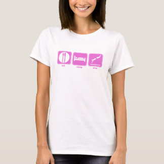 eat sleep dive pink T-Shirt