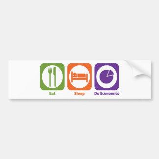 Eat Sleep Do Economics Bumper Sticker