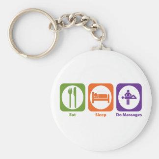 Eat Sleep Do Massages Basic Round Button Keychain
