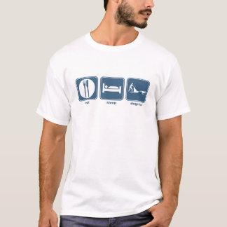 eat, sleep, dogsled T-Shirt