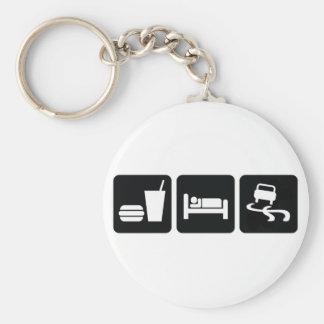 Eat Sleep Drift Basic Round Button Keychain