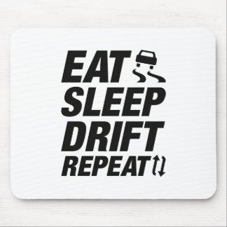 Eat Sleep Drift Repeat Mouse Pad