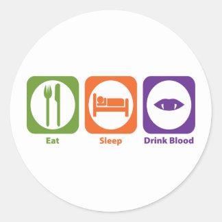 Eat Sleep Drink Blood Sticker
