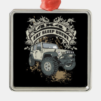 Eat, Sleep, Drive 4x4 Metal Ornament