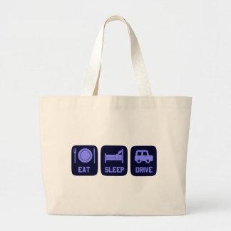 Eat Sleep Drive Jumbo Tote Bag