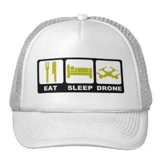 EAT SLEEP DRONE White Trucker Hat