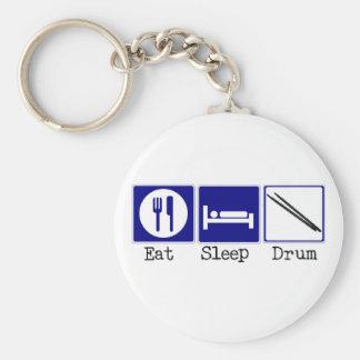 Eat, Sleep, Drum Basic Round Button Keychain